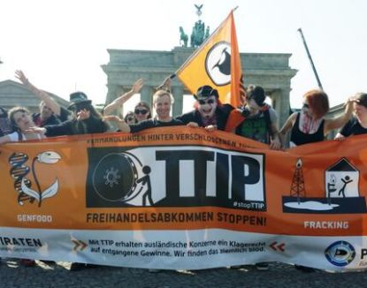 Stop TTIP protest in Germany