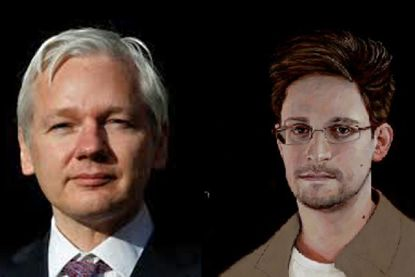 Image result for snowden assange