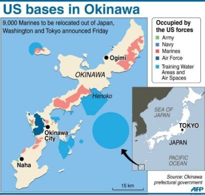 Inequitous USJapan Security Agreement Must Be Revised - Us bases in japan map